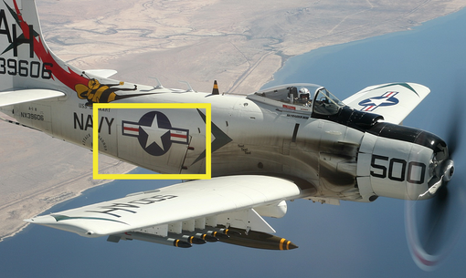 Custom Made Aviation Wall Art Of  The A-1 Skyraider