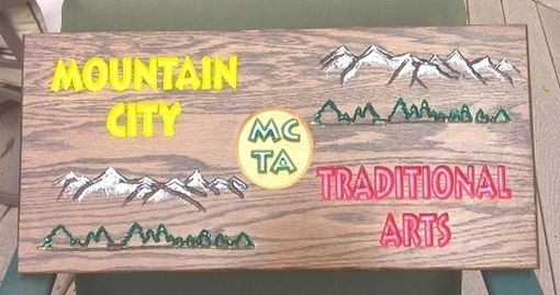 Custom Made Signs For Mountain City Traditional Art Store