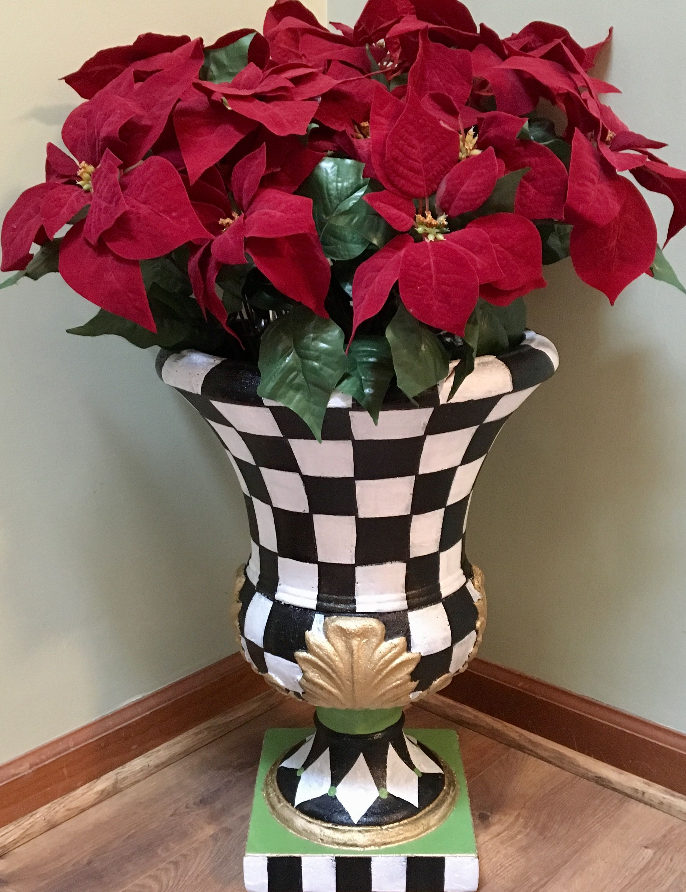 Buy Custom Whimsical Painted Urn Planter Urn Planter Indoor Outdoor Planter Whimsical Home Decor Made To Order From Michele Sprague Design Custommade Com