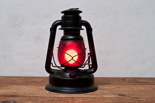 Custom Made Gas Lantern Converted To Electrical Plugin Lamp