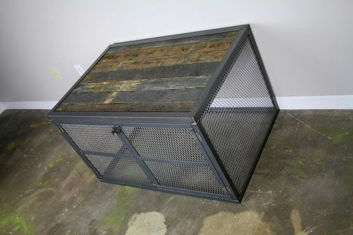 Custom Made Speaker/Subwoofer Enclosure, Cover Ugly Speakers, Urban/Modern Reclaimed Wood & Steel. Industrial.