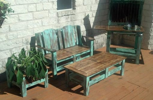 Custom Made Outdoor Bar And Furniture Set.
