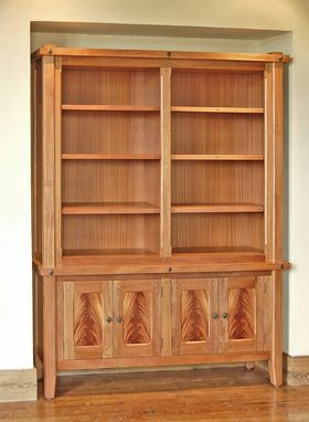 Custom Made African Mahogany Bookcase