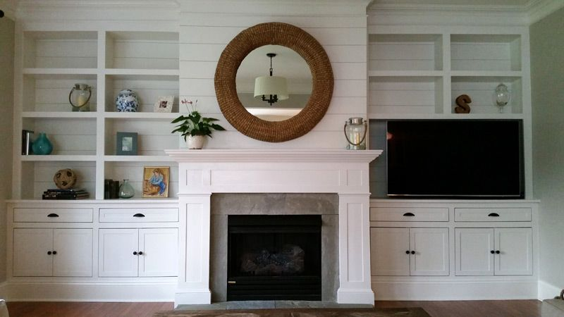 Hand Made Built In Wall Unit With Fireplace Mantle By Ajc