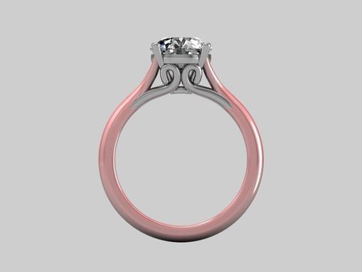 Custom Made 14 Kt Vintage Rose Gold Engagement Ring