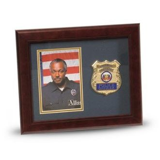 Custom Made Police Department Medallion Portrait Picture Frame