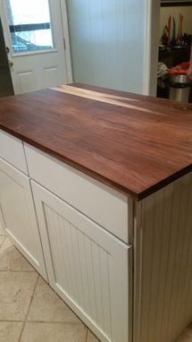 Custom Made Solid Walnut Counter Top With Burl