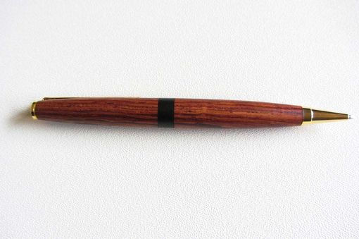 Custom Made Gold Twist Pen - Honduran Rosewood - Ebony