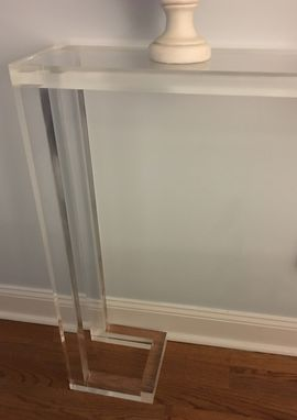 Custom Made Console Table - 1.5 Slab Top With Open Frame Base