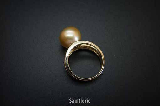 Custom Made 11mm Golden Pearl Ring
