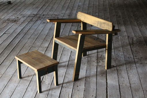 Custom Made Reclaimed Oak Mid Century Modern Inspired Chair ... Amelia