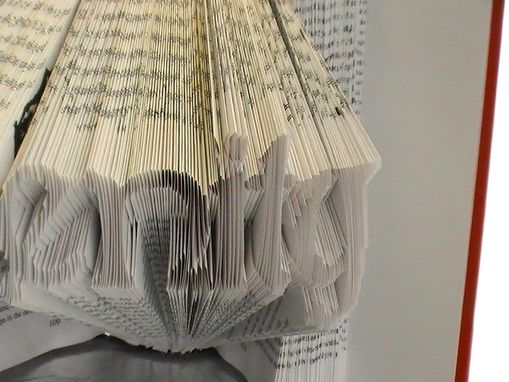 Custom Made Custom Typography Art - Up To 9 Letters - Book Origami
