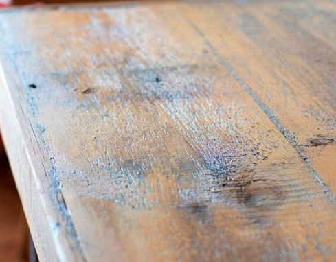 Custom Made Industrial   Barn Wood Rustic Dining Room Table Made From 1800s Reclaimed Minnesota Barn Wood