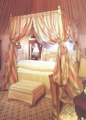 Custom Made Silk Bed Curtains