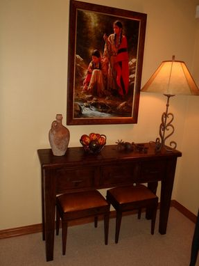 Custom Made Hall Table With Matching Stools