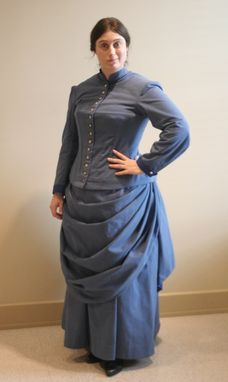 Custom Made Victorian Bustle Day-Dress