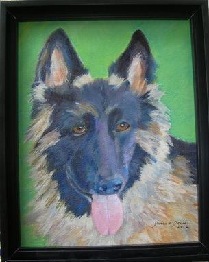 Custom Made Zoe --German Sheppard Dog Pet Portrait