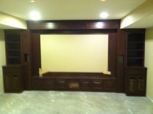 Custom Made Cherry Theater Built-In