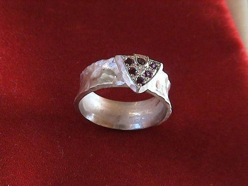 Custom Made Sterling Triangle Ring