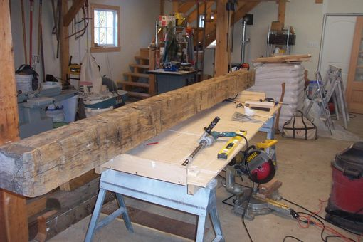 Custom Made Hand Hewn Timber Post