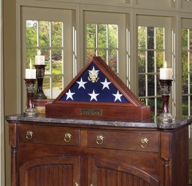 Custom Made Burial Display Case For Flag