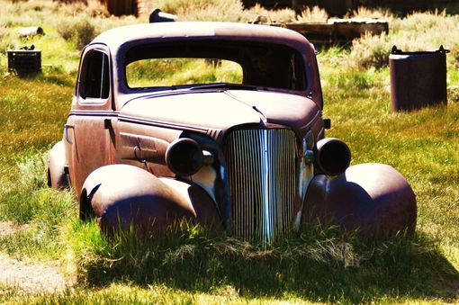 Custom Made Fine Art Photograph Of An Old Automobile