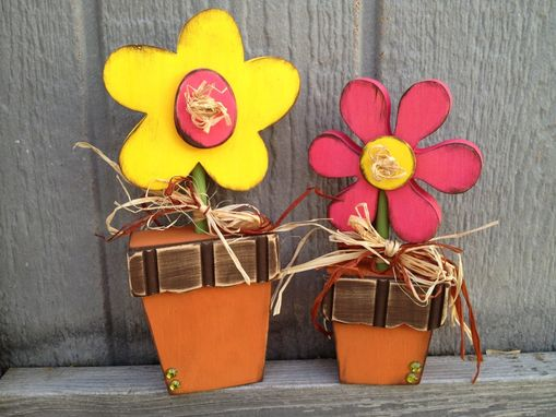 Custom Made Summer Decor -- Potted Flowers