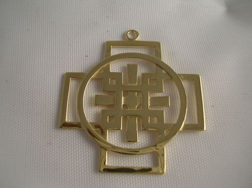 Custom Made Gold Celtic Woven Cross
