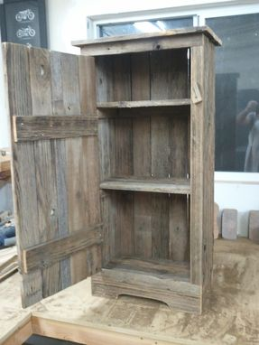 Handmade Aged Barnwood Jelly Storage Cabinet By Treehousewoodworks Custommade Com