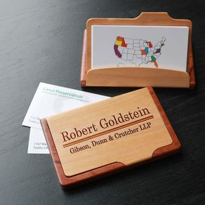 custom maple rosewood card holder engraved card holder bch mr goldstein - Personalized Business Cards
