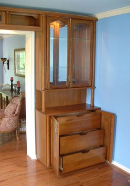 Custom Made Built-In With Display Cabinets