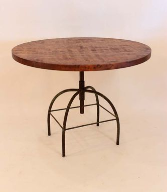 Custom Made Rt-13 Round Adjustable Factory Pedestal Table