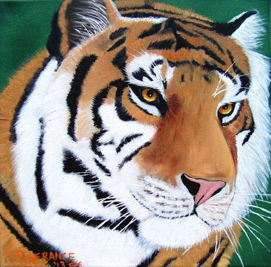 Custom Made Magnificent Tiger Oil Painting