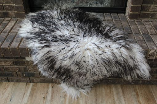 Custom Made Genuine Icelandic Sheepskin Rug Throw – Shade Of Black - Curly Pile