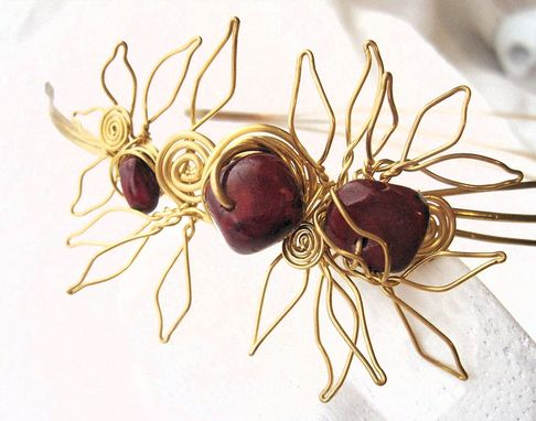 "Custom Made ""Laurel And Cranberry"" Brass Sculptural Headband"