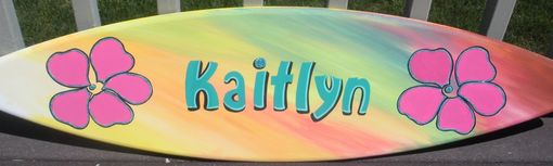 Custom Made Bar Mitzvah Surfboard Surf Party Sign In Board