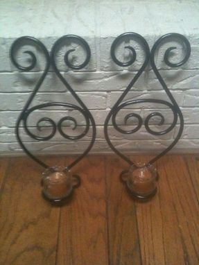 Custom Made Pair Decorative Candle Holders