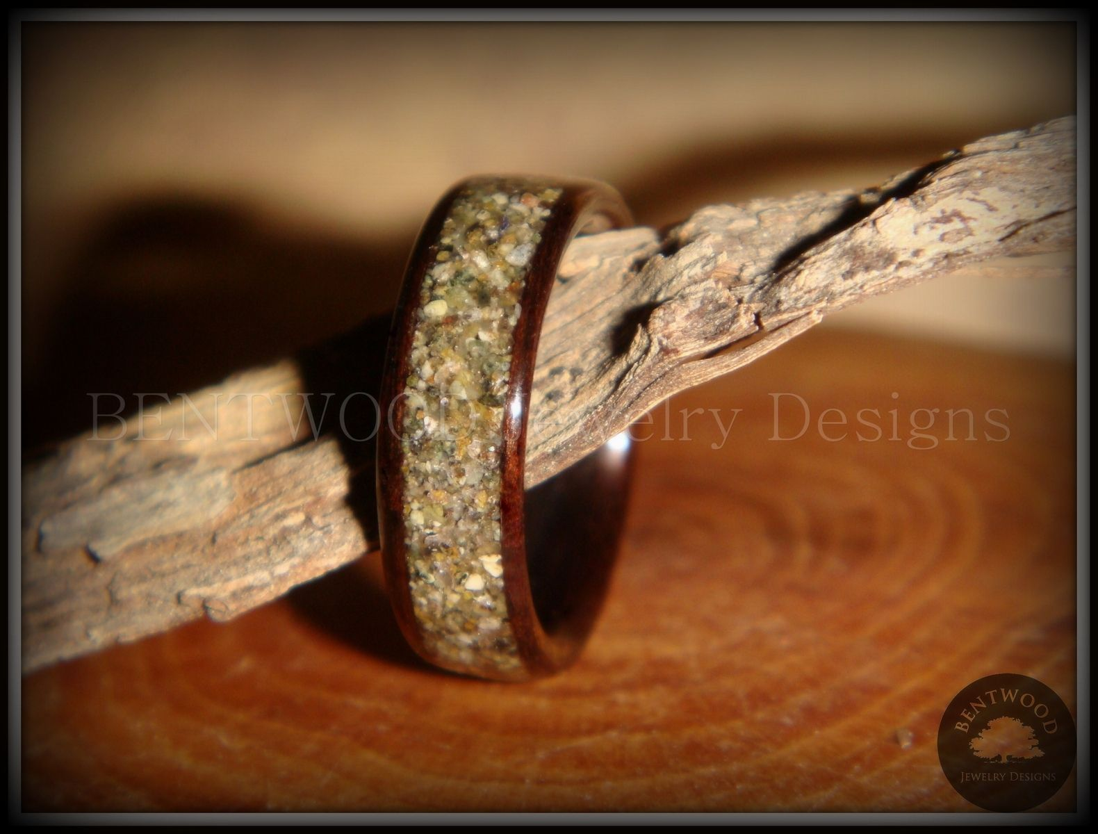 burl wedding walnut rings bentwood a blue crushed ring watch creating youtube opal and wood