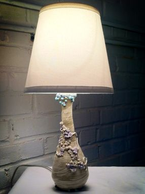 Custom Made Swirl And Dot Lamp