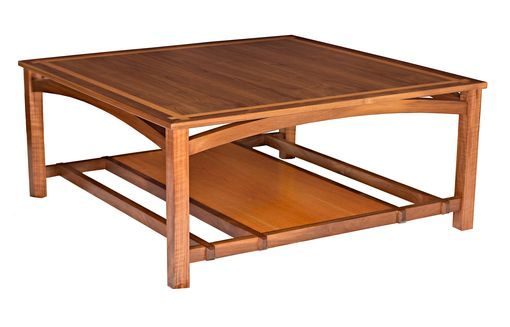 Custom Made Resolute Coffee Table: Arts And Crafts Inspired Modern Table