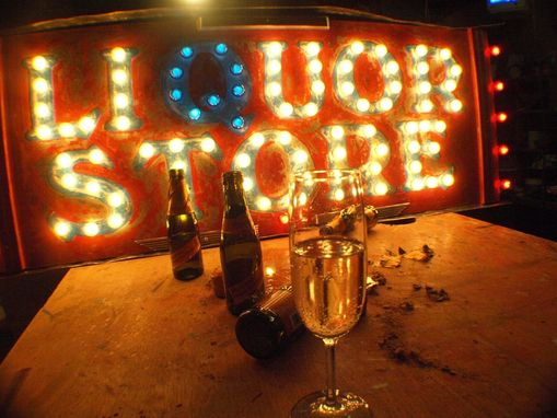 Custom Made Vintage Marquee Art Liquor Store Art Deco Style By Aranacci