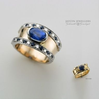 Custom Made Sapphire And Diamond Ring Re-Design