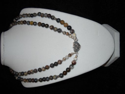 Custom Made Multistrand Batik Agate Necklace