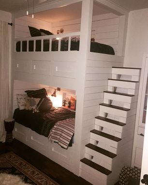 Custom Made Bunk Bed With Drawers