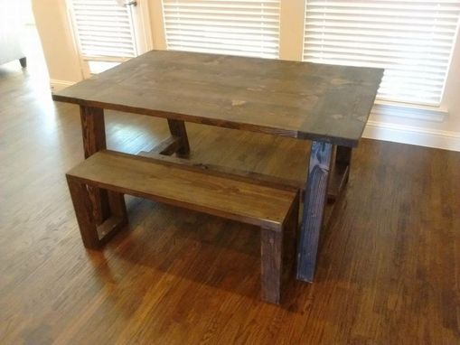 Custom Made Country Rustic Farmhouse Dining Table.