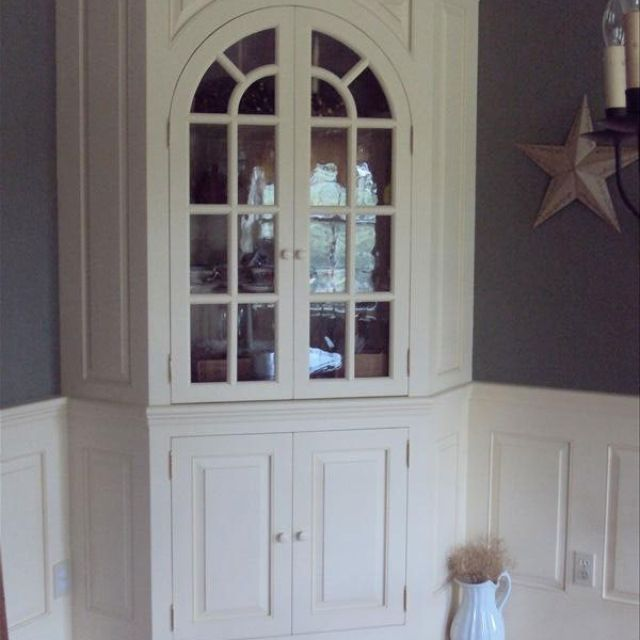 Hand Crafted Corner Hutch By Wood Connections Llc Custom Woodworking And Windsor Chairs Shawn Murphy Custommade