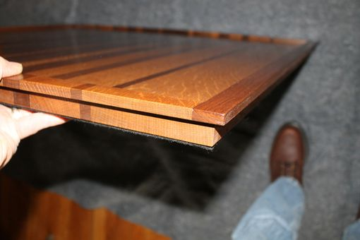 Custom Made Large Oak And Walnut Tray