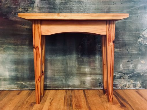 Custom Made Reclaimed Heart Pine End Table