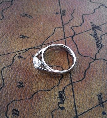 Custom Made Tension Set Engagement Ring