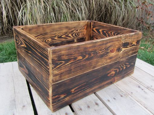 Custom Made Large Wood Crate Stackable Made From Reclaimed Wood Pallets